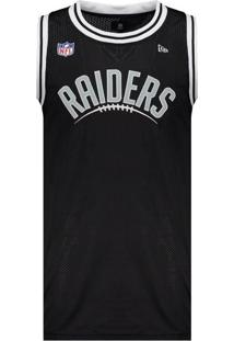 Regata New Era Nfl Oakland Raiders Preto Nome