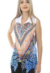 Camisa 101 Resort Wear Renda Guipir