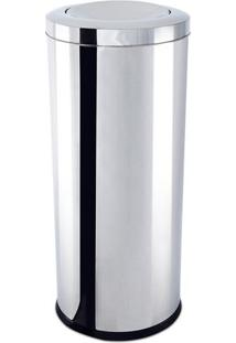 Lixeira Com Tampa Basculante- Inox- 70Xø30Cm- 47Brinox