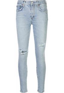 Agolde Calça Jeans Com Detalhes Destroyed Nos Joelhos - Azul