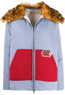 Marni Colour Block Padded Jacket - Azul