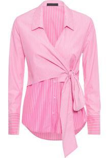 Camisa Feminina Sobreposta - Rosa