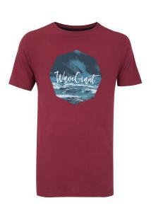Camiseta Wg Silk Sea - Masculina - Vinho