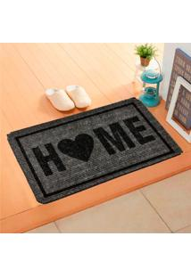 Capacho Carpet Home Cinza