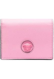 Versace Carteira Com Placa Medusa - Rosa