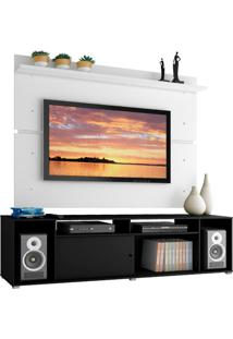 Rack Madesa Cancun E Painel Para Tv Atã© 65 Polegadas - Preto/Branco Preto - Preto - Dafiti