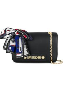 Love Moschino Scarf-Detail Crossbody Bag - Preto
