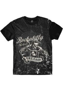Camiseta Bsc Motoqueiros Rebelde Sublimada Masculina - Masculino-Preto
