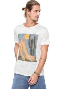 Camiseta Linho Osklen Abaporu Off-White