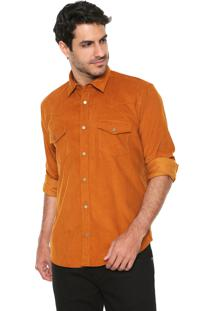 Camisa Reserva Veludo Western Cot Caramelo
