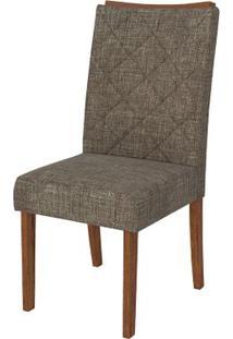 Cadeira Golden 2 Peças - Linho Bronze - Rústico Terrara