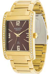 6b20e8316ed Relógio Digital Backer Marrom feminino