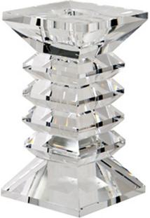 Castiçal De Cristal Zig Zag M Para 1 Vela