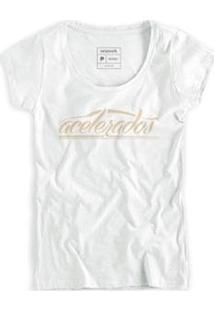 Camiseta Reserva Acelerados Masculina - Masculino-Branco
