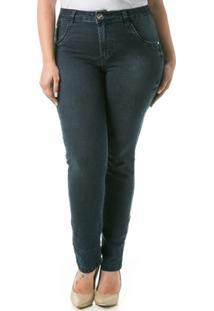 Calça Confidencial Extra Plus Size Jeans Cigarrete Sevn Blue Feminina - Feminino