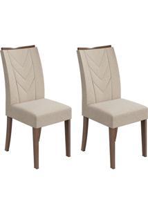 Conjunto Com 2 Cadeiras Atacama Lll Imbuia E Bege