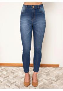 Calça Jeans Com Bolso Funcional Costas