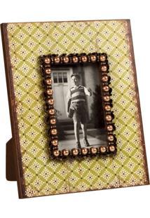 Porta-Retrato De Madeira Decorativo Com Perolas Hub