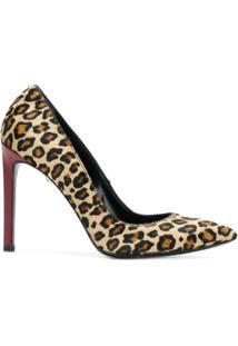 Just Cavalli Scarpin Com Estampa Leopardo - Neutro