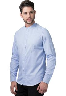 Camisa Alfaiataria Burguesia Stil Gola Padre Blue