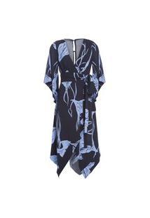 Vestido Faixa Bouganville Maria Filó - Azul