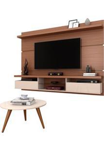 Painel Para Tv Lívia 2.2 E Mesa De Centro Solaris H01 Nature/Off White