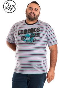 Camiseta Konciny Manga Curta Plus Size Lilás