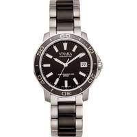 2a66e6bf8c1 Relógio Vivara Feminino Aço Prateado E Preto - Ds13155R2E-1