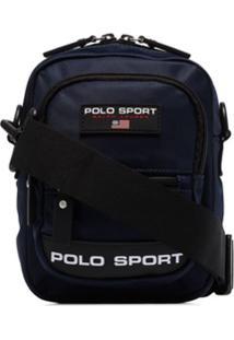 Polo Ralph Lauren Bolsa Transversal Com Estampa De Logo - Azul