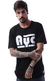 Camiseta Asphalt Ayc Double Stripe Masculina - Masculino-Preto