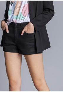 Shorts Jeans Miami Resinado Preto Reativo - Lez A Lez
