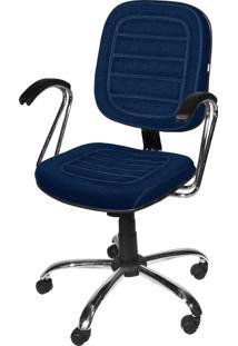 Cadeira Diretor Base Giratã³Ria Cromadagã¡ Azul - Azul - Dafiti