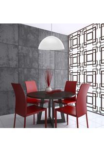 Pendente Redondo Design 36Cm Td 821F Taschibra Branco Fosco