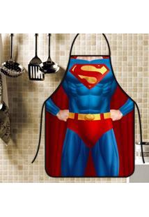 Avental Personalizado Tecido Microfibra Estampada - Superman