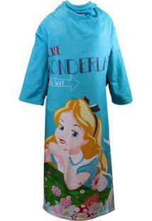 Cobertor Com Mangas Alice® - Azul & Amarelo - 160X13Zona Criativa