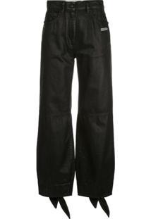 Off-White Calça Jeans Boyfriend Cintura Média - Preto