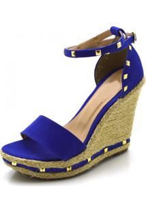 Sandália Anabela Stefanello 3021 Azul