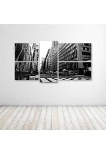 Quadro Decorativo - Black And White New York - Composto De 5 Quadros - Multicolorido - Dafiti