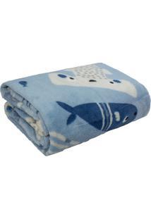 Cobertor Infantil Soft Azul