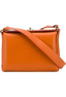 Plan C Structured Box Shoulder Bag - Laranja
