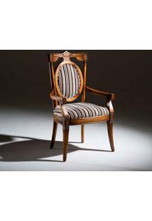 Cadeira Com Braço Fênix Madeira Maciça Design Clássico Avi Móveis