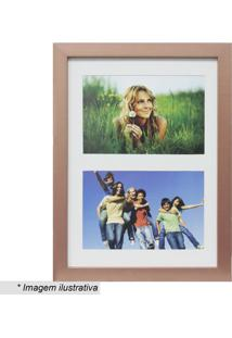 Painel Insta Para 2 Fotos - Cobre & Branco - 28X21X1Kapos