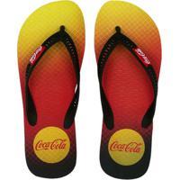 c431d13427 Chinelo Coca-Cola Grid Unissex - Unissex-Preto