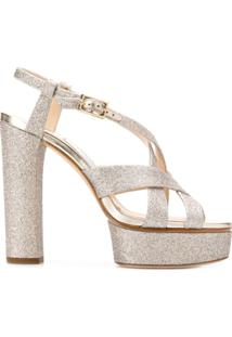 Jimmy Choo Sandália Caress 125 - Metálico