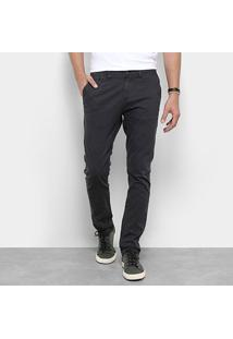 Calça Sarja Skinny Replay Chino Color Masculina - Masculino-Grafite