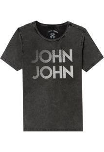 Camiseta John John Rg Fading John Dots Malha Algodão Cinza Masculina (Cinza Chumbo, Pp)