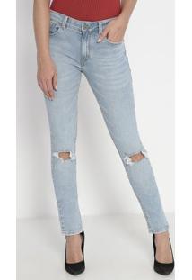 Jeans Midi Skinny Long Vaticano- Azul Claro- John Jojohn John