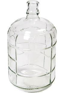 Vaso Decorativo Com Relevos- Incolor- 27,5Xø15Cmdecor Glass
