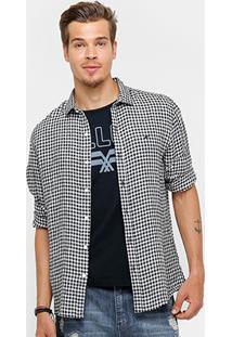 Camisa Ellus Classic Fit Quadriculado Masculina - Masculino