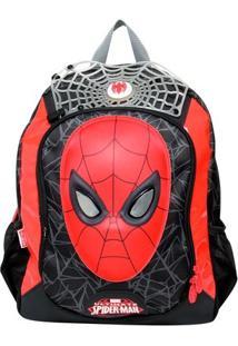 Mochila Sestini Spider Man - Masculino-Preto+Vermelho